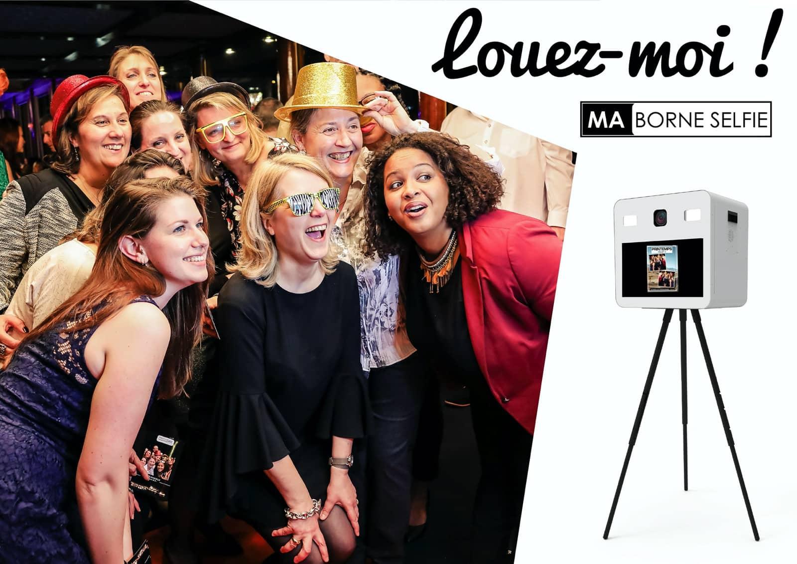 Location Borne Photo Photobooth avec animateur et impression immédiates illimitées, pour des événements d'exception à Paris (75) et en Île-de-France